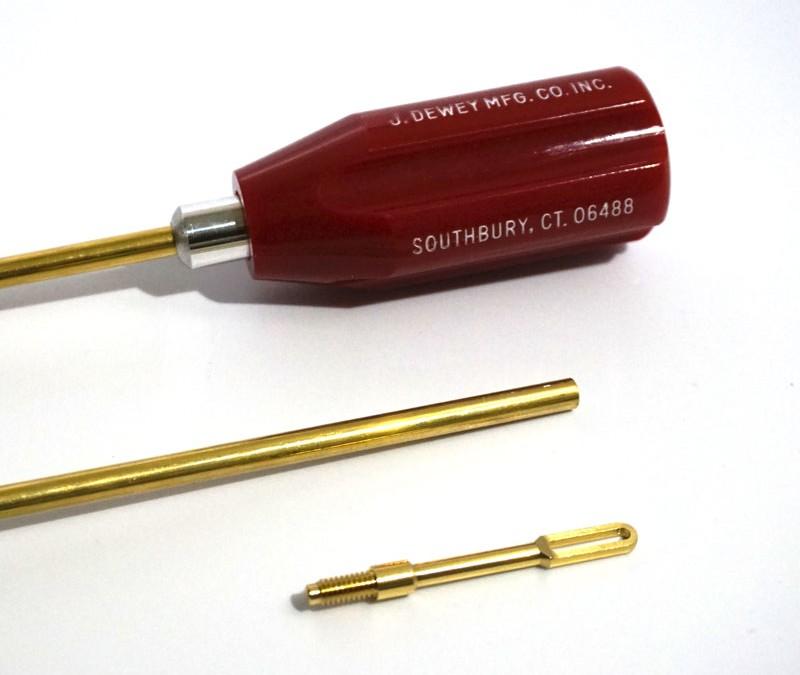 .22LR-.45 cal Brass Pistol Rod – 6.5 Inches.  Model# 6-HB